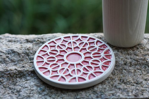 decoramics grilles coaster -Chartres Cathedral Rose- indigo - the only single product