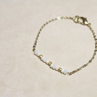 // day court glass crystal brass bracelet // vb005