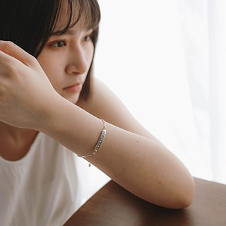 zo.craft Name typing along bracelet / 925 Silver