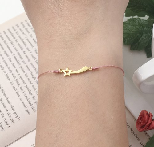 *Le Bonheur happy Line line*925 gold-plated sterling silver bracelet vow meteor red Christmas gift exchange Christmas gift Wishing Star Wish