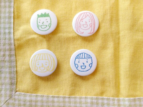 We all have 4 good friends - small round badges
