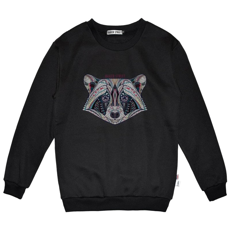 British Fashion Brand -Baker Street- Zentangle Coon Printed Sweatshirt