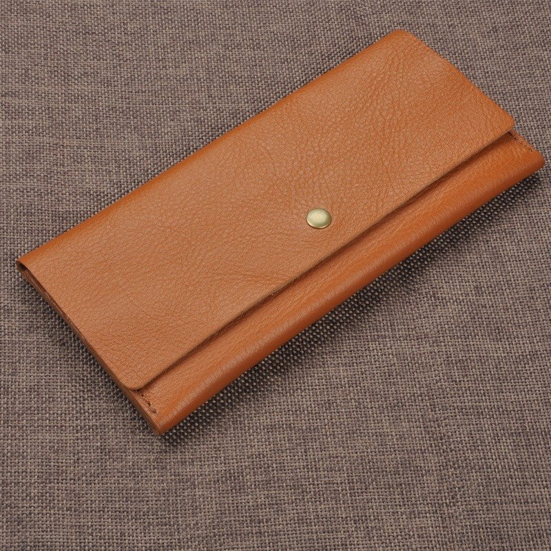 Apple Samsung Sony phones Simple calfskin wallet multi-card bit CLUTCH