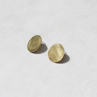 Simple Brass Earrings - 925 Sterling Silver Ear Pins / Clip Earrings