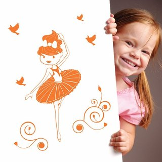 Smart Design Creative wall stickers Incognito ◆ ballet girl (8 colors optional)