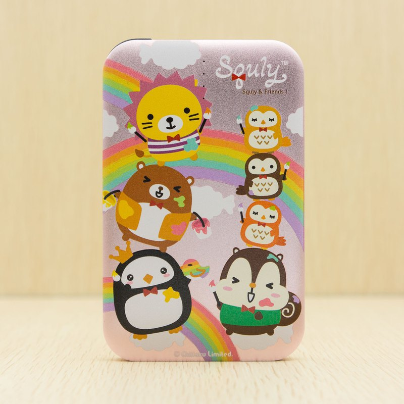 Powerbank (8000mAh) with Squly & Friends rainbow theme