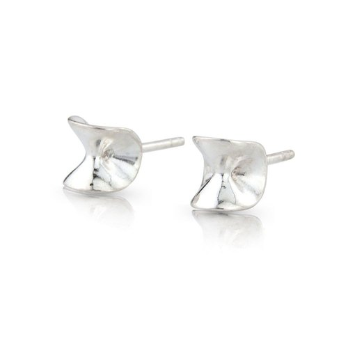 ALDA Sterling Silver Stud Earrings Handmade in Iceland