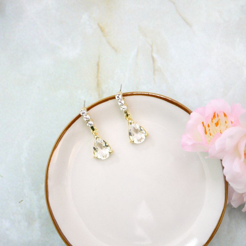 Crystal clear translucent SWAROSIKI earrings