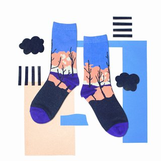 Sunset Blue Unisex Crew Socks | mens socks | womens socks | comfortable socks