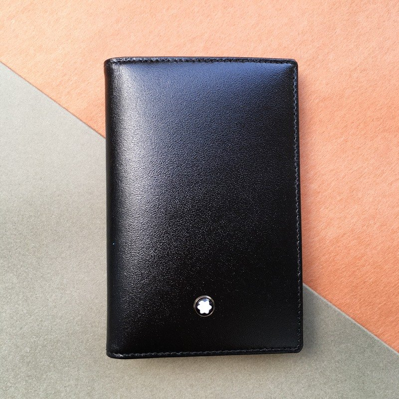 MONTBLANC Montblanc Classic Business Card Holder | German Classic Leather 4 Laminated Black