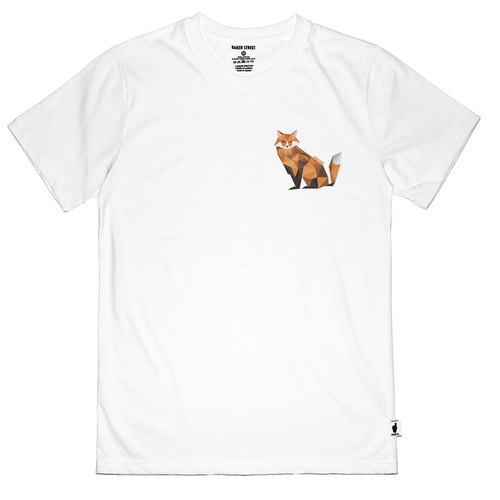 British Fashion Brand [Baker Street] Little Fox Printed T-shirt