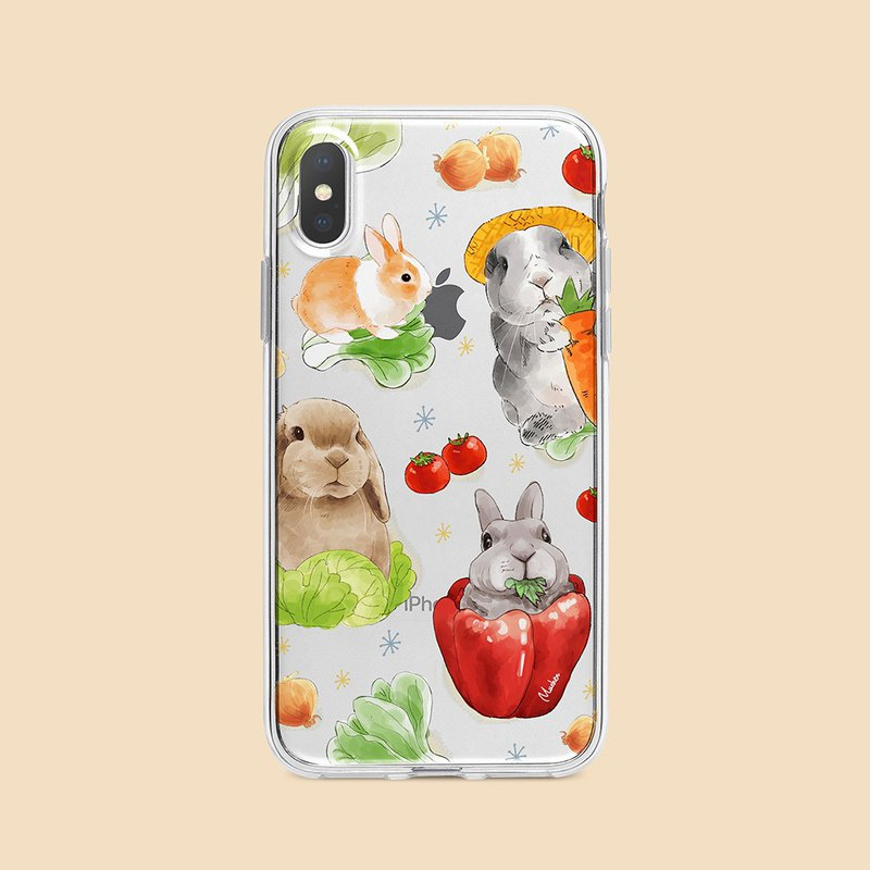 Vegetable Bunny / Embossed Air Shell - iPhone/Samsung, HTC.OPPO.ASUS Pet Phone Case
