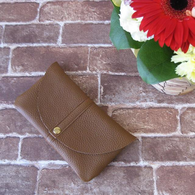 """Globe II"" wallet (plump purse) <Brown>"