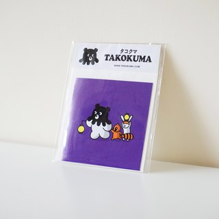 Octopus Bear Takokuma Square Small Card - accompanied by good friends