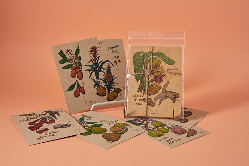 Taiwan Fruits Postcards 13pc