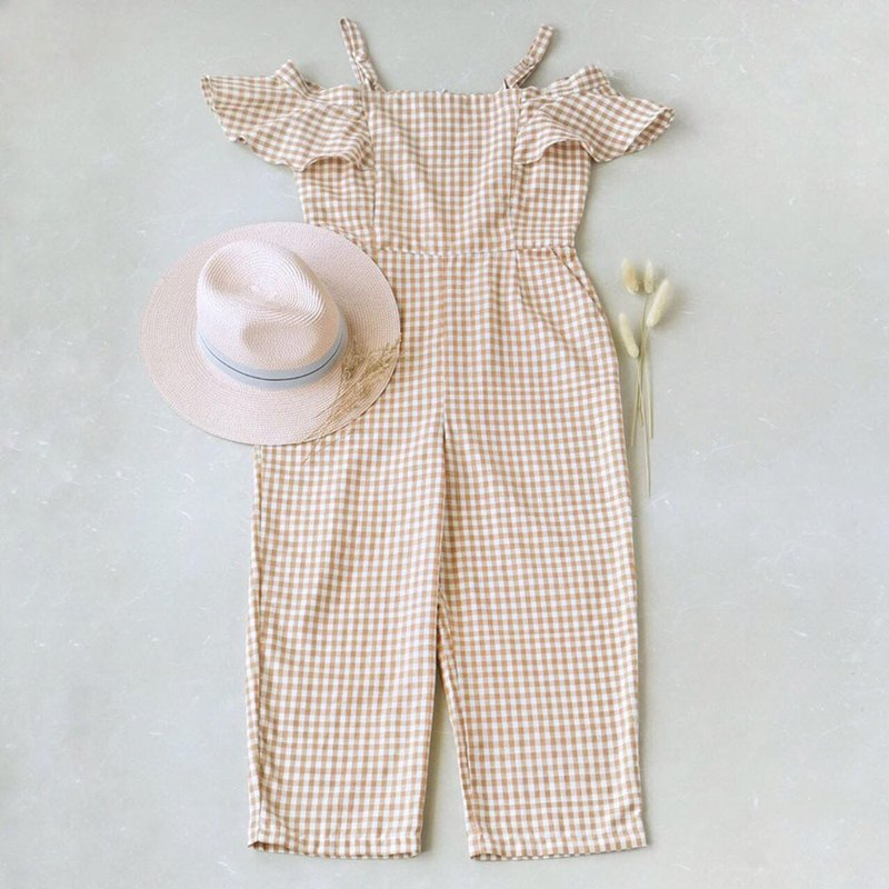 Basic Scott Jumpsuit Women Hand Woven Cotton 100%, Natural Dyed