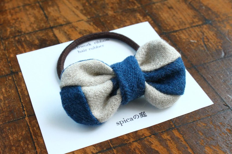 Hair accessary of a patchwork ribbon