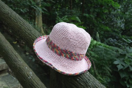 Exclusive order - A mother's hand hat / big round hat / pink color