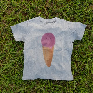 Round neck T-shirt (gray) - children