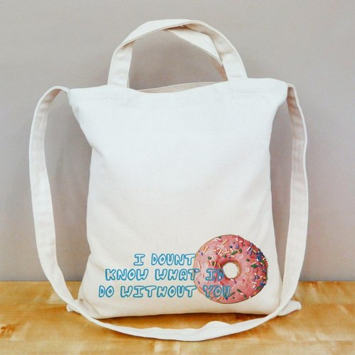 [Valentine] I Donut know straight canvas bag