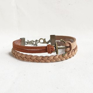 Handmade Double Braided Anchor Bracelets –Chocolate limited