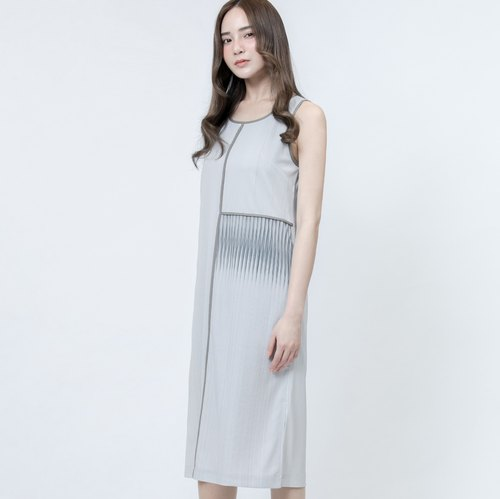 Refraction Print Dress Grey Refraction Patterns Printed Dress