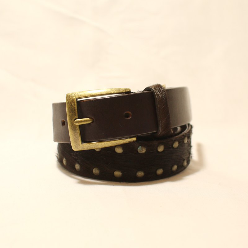 Back to Green - Belt Horsehair // vintage belt