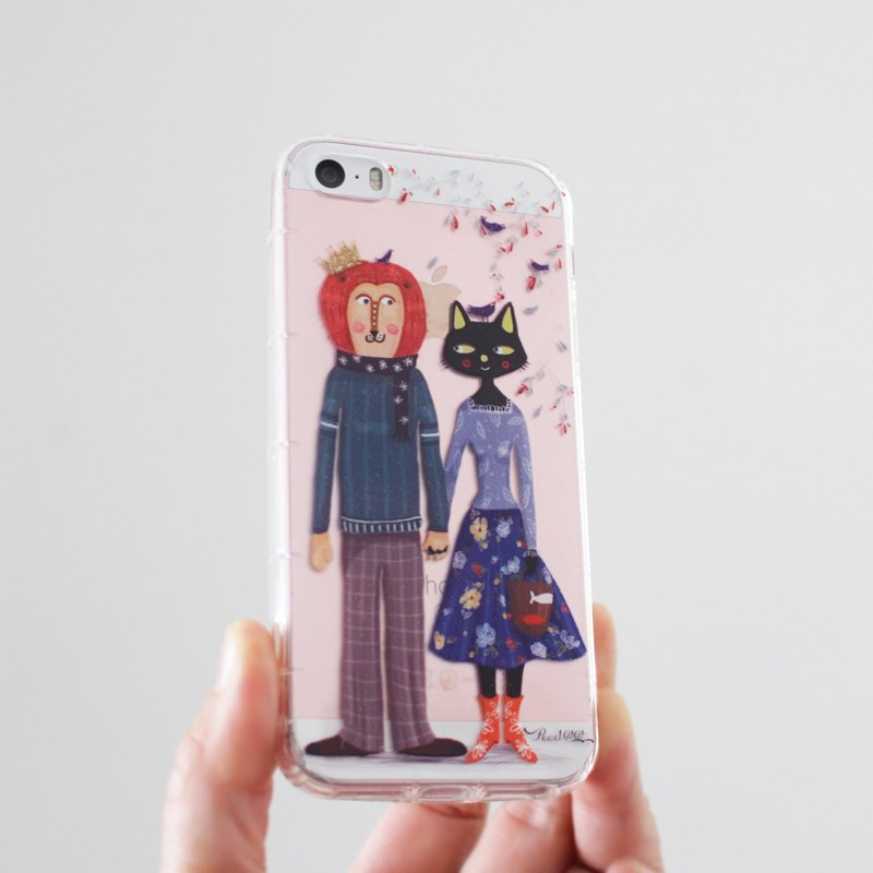 Cat & Lion phone case _ iPhone, Samsung, HTC, LG, Sony I MissCatCat