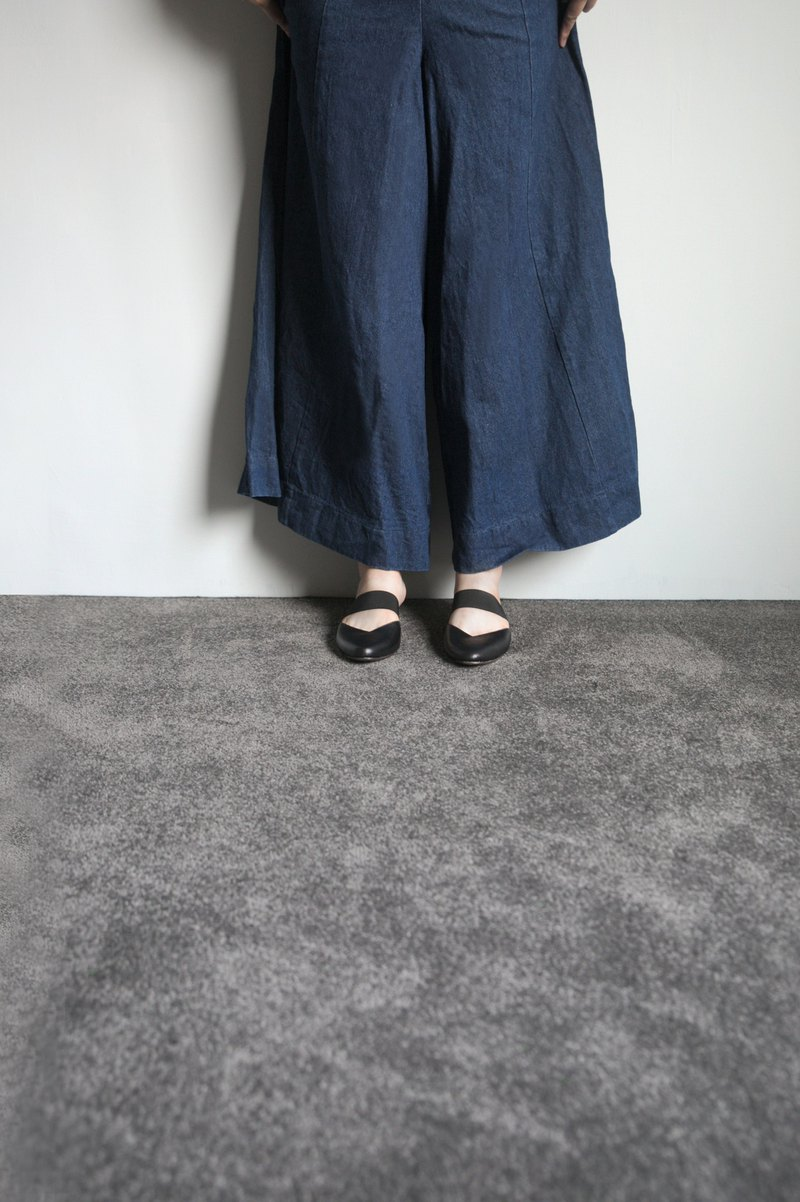 WL Mules V (細緻黑) Black Mules Low Heels
