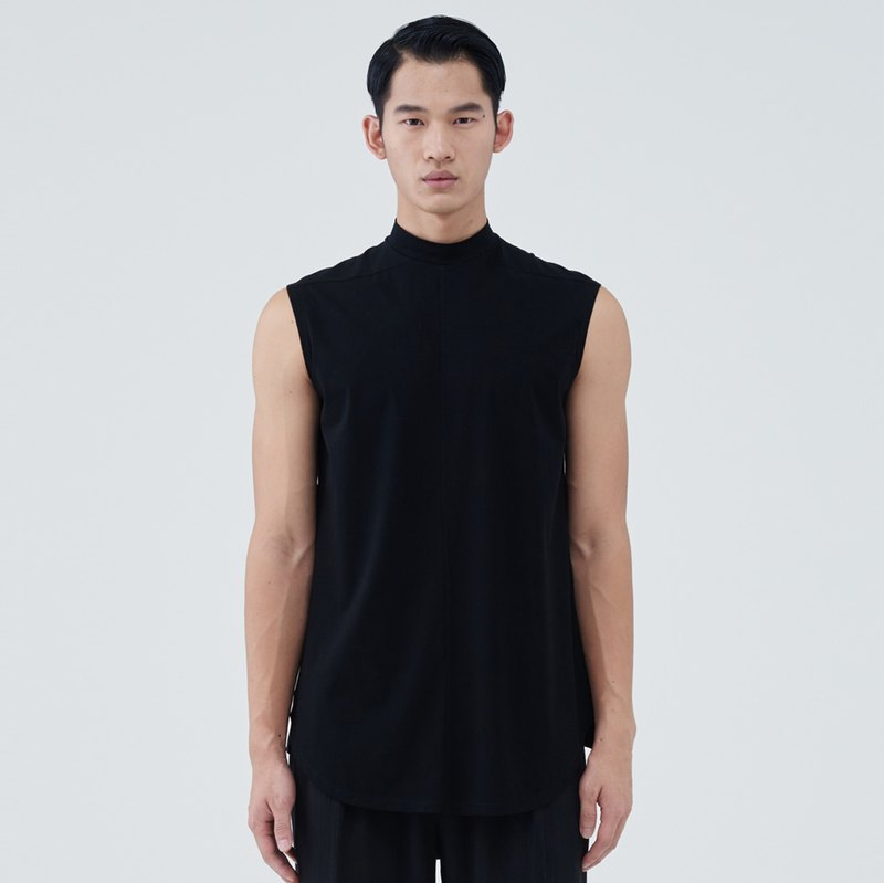 TRAN - middle to high collar sleek vest