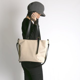CLM scratch-resistant tote bag _ apricot black (off the shelf)