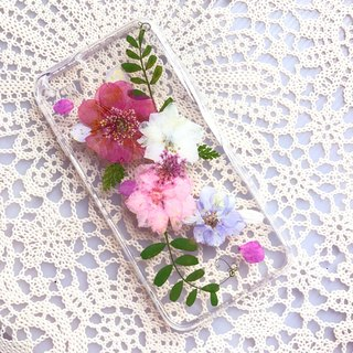 iPhone 7 Dry Pressed Flowers Case Pink Flower case 012