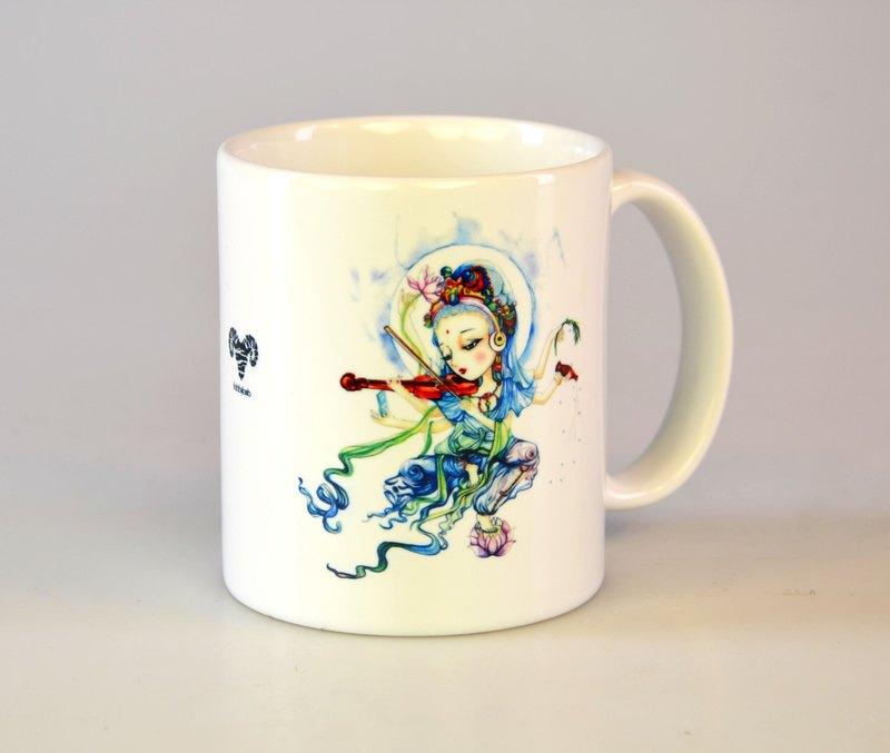 Tabby sheep - Classical Guanyin. Serenity Zhiyuan/Illustration Mug