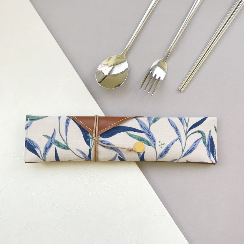 Water grass cutlery bag storage bag cutlery set straw set stainless steel