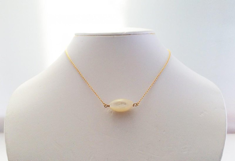 Pearl shell K14GF ◇ Mermaid princess necklace