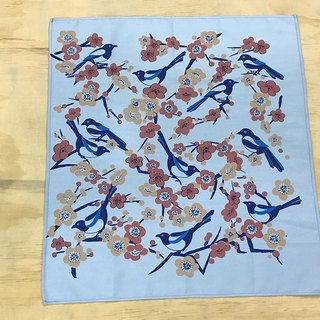 Hand towel: Magpie(blue)