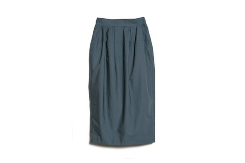 High waist narrow skirt rock blue