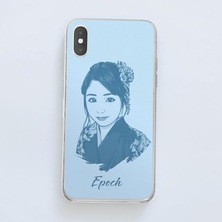 Customized portrait phone case (simple style)