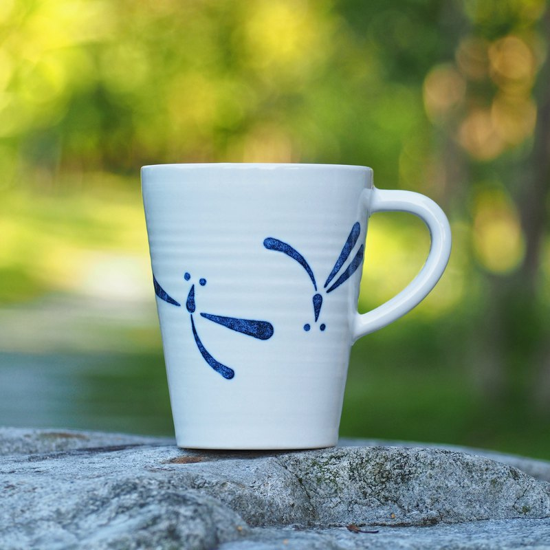 [Life and death] second generation coffee cup - pure 蜻蜓-360ml