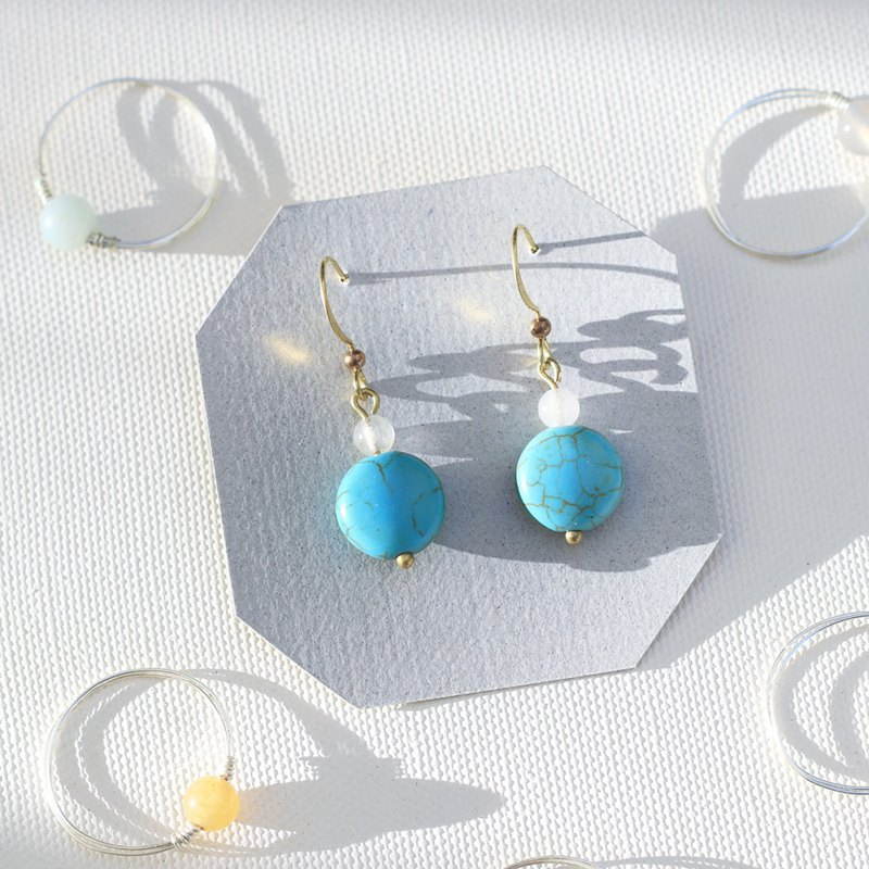 Natural stone classical earrings series - Istanbul