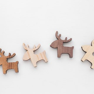 Customized Name Gift Wood Dark Shaped Wood Chips - Small Deer