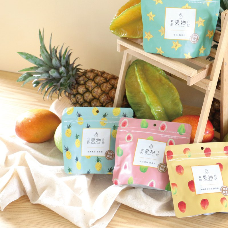 [My fruit diary] fresh fruit dried 4 flavors each 1 pack - hand bag
