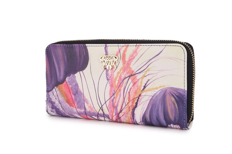 S8O painting style zipper wallet mysterious series of marine jellyfish