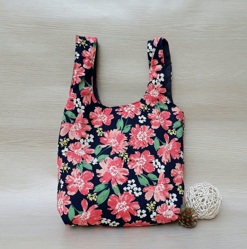 Copy [Green Shopping Bag] Dali flowers - Japan and South Korea cloth