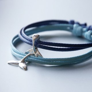 ITS-939 [Minimalist series, swim to the sea] Whale tail wax bracelet 1 item.