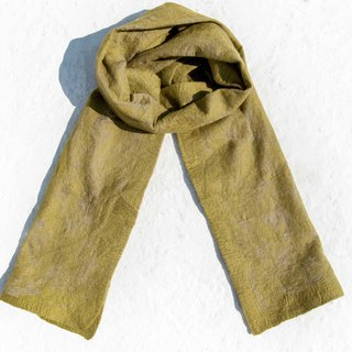 Handmade wool felt scarves / wet felt scarves / watercolor art scarf / wool scarf - green gradient turf