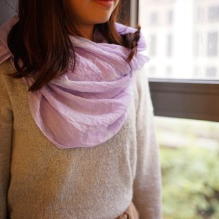 Tie-dyed cotton and linen scarf. Shawl | Violet Violet