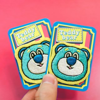 [Circus big stupid bear] a small amount of embroidery hot stamping cloth patch cloth embroidery cloth stickers armband embroidery