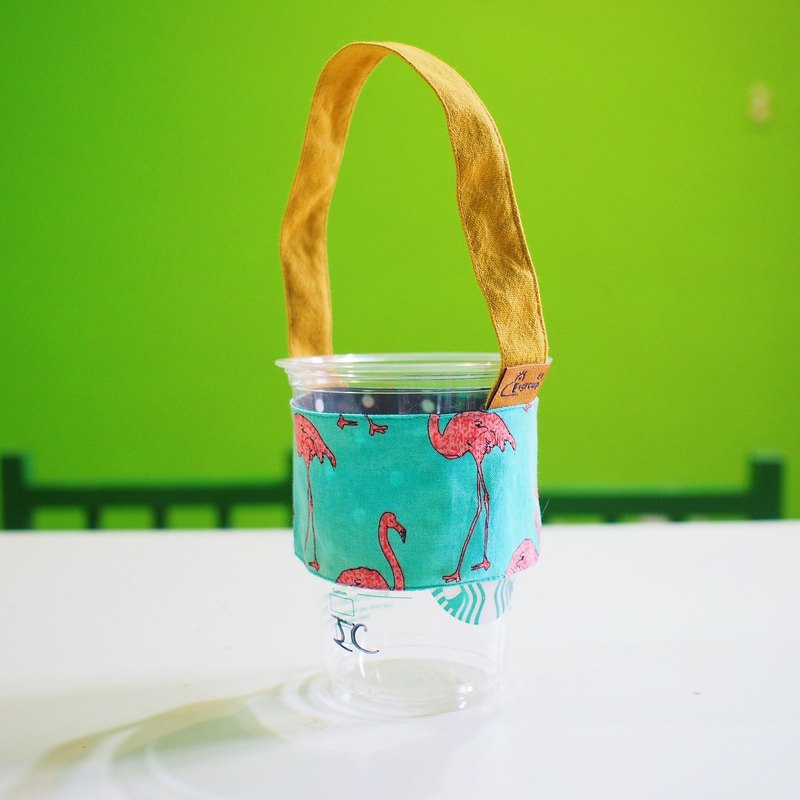 E*group Tropical Red Crane Green Cup Set Cup Bag Cup Bag Cup Bag Cup Bag Beverage Cup Bag Bag Bag