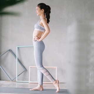 Stripe Leggings - Grey